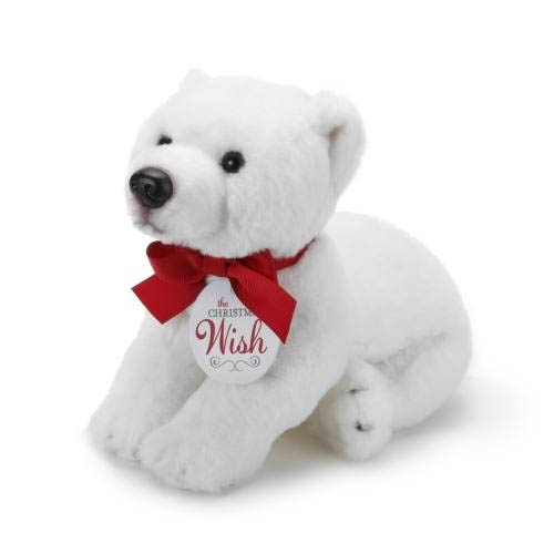 Demdaco The Christmas Wish Large Polar Bear Plush