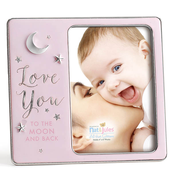 Nat & Jules Pink Love You to the Moon and Back Baby Picture Frame