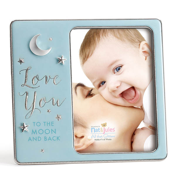 Nat & Jules Blue Love You to the Moon and Back Baby Picture Frame