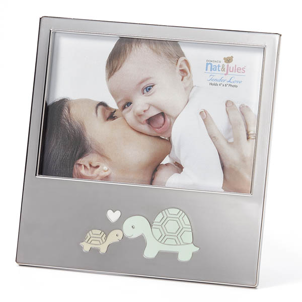 Nat & Jules Baby Turtle Metal Picture Frame