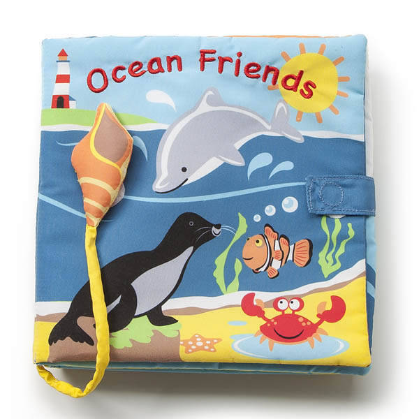 Nat & Jules Ocean Friends and Sounds Soft Baby Book