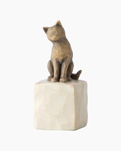 Love My Cat Figurine (Dark)