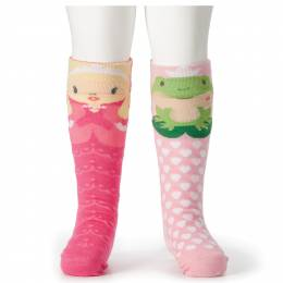 Demdaco Princess and Frog Baby Knee Socks