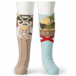 Demdaco Pirate and Parrot Baby Knee Socks
