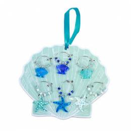 Dennis East Glass Sea Life Wine Charms