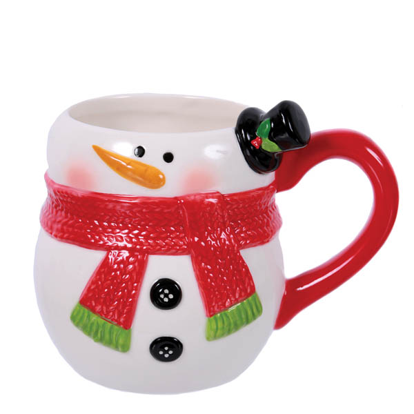 Dennis East Snowman Embossed Shaped Mug