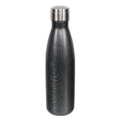 Dennis East Stainless Steel Water Bottle in Black Swirl