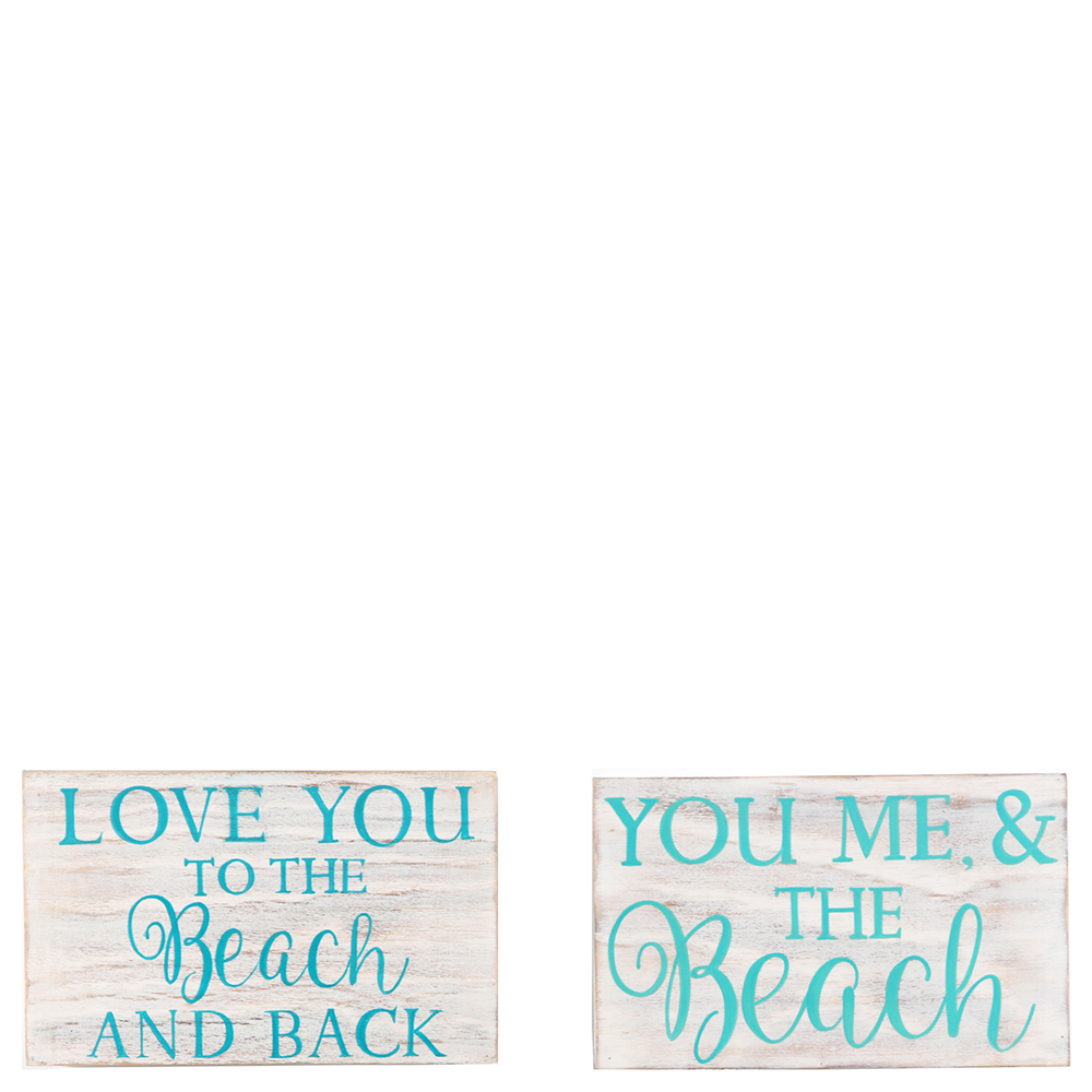 Dennis East Beach Love Saying Sign (Assorted Styles)