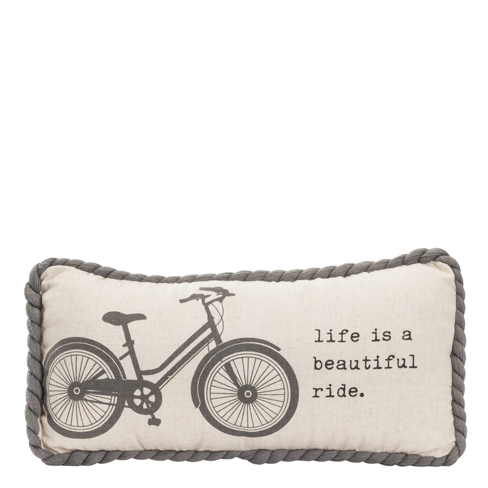 Dennis East Life is a Beautiful Ride Throw Pillow