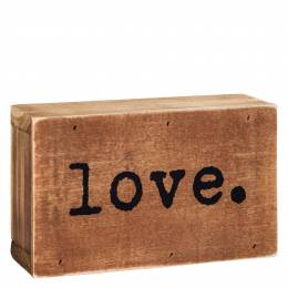 Dennis East Love Word Block Sign