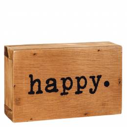 Dennis East Happy Word Block Sign