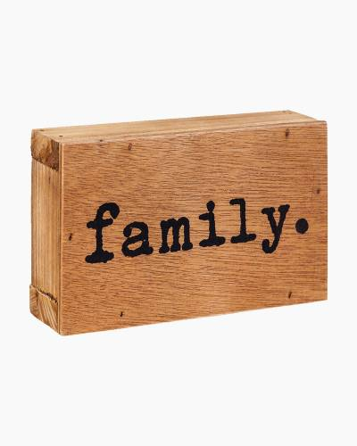 Family Word Block Sign