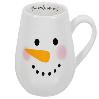 Oversized Snowman Face Mug