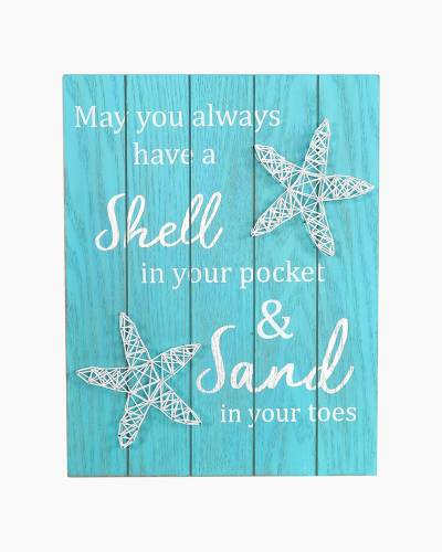 Shell in Your Pocket String Art Sign