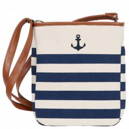 Dennis East Anchor Stripe Crossbody Bag