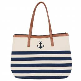 Dennis East Anchor Stripe Beach Bag