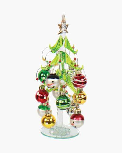 Snowman Wine Charms Ornament Tree Gift Set