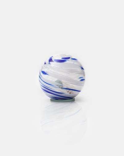 Beach in a Glass Orb (Navy and White)