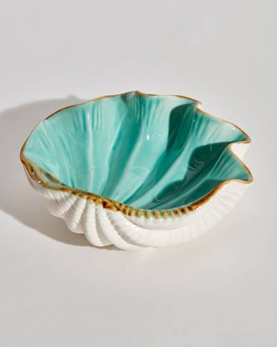 Blue Clam Shell Bowl