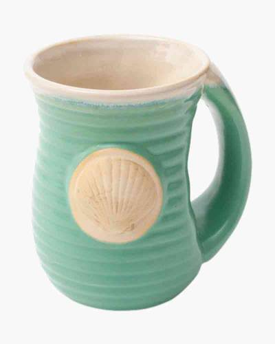 Coastal Embossed Cozy Mug in Turquoise