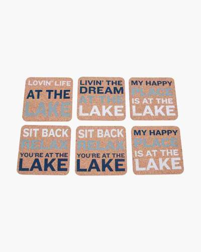 Lake Sayings Set of 6 Cork Coasters