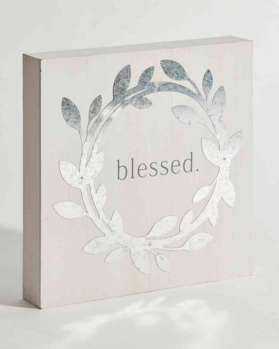 Blessed Wreath Box Sign