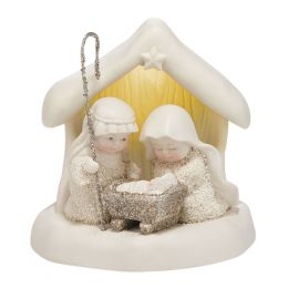 Snowbabies Beneath the Christmas Star Snowbabies Figurine