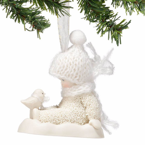 Snowbabies Snowbabies Into the Woods - Chilly Chick Chat Ornament