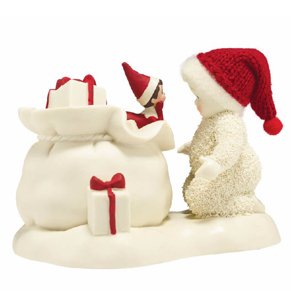 Snowbabies Snowbabies Elf On The Shelf Helps Santa Figurine