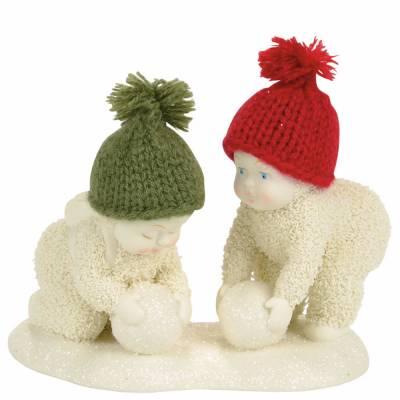 Making Snowballs Snowbabies Figurine