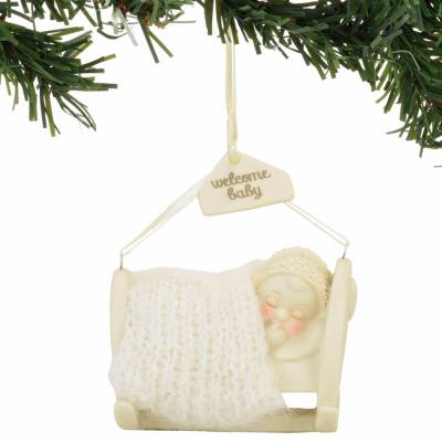 Welcome Baby Snowbabies Ornament