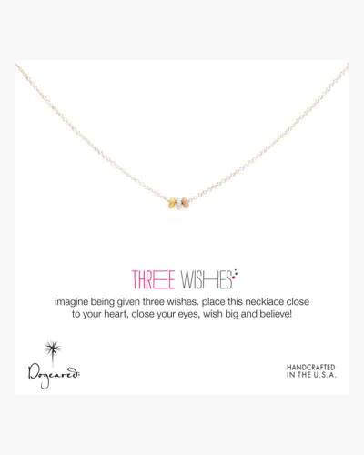 Gold Three Wishes Mixed Stardust Bead Necklace