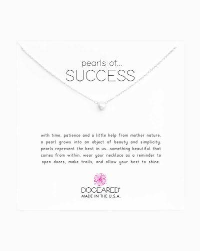 Silver Pearls of Success White Pearl Necklace