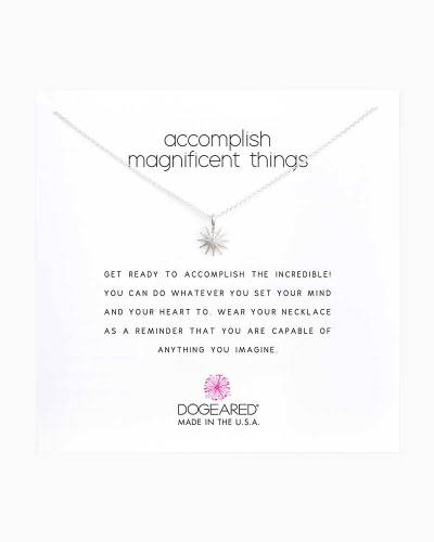 Sterling Silver Accomplish Magnificent Things Starburst Necklace