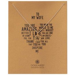 Dogeared Gold Filled My Wife Necklace