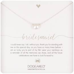 Dogeared Sterling Silver Bridesmaid Small Pearl Necklace