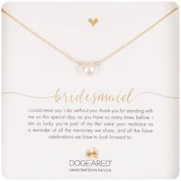 Dogeared Gold Dipped Bridesmaid Small Pearl Necklace