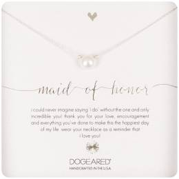Dogeared Sterling Silver Maid of Honor Small Pearl Necklace