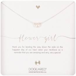 Dogeared Sterling Silver Flower Girl Small Pearl Necklace