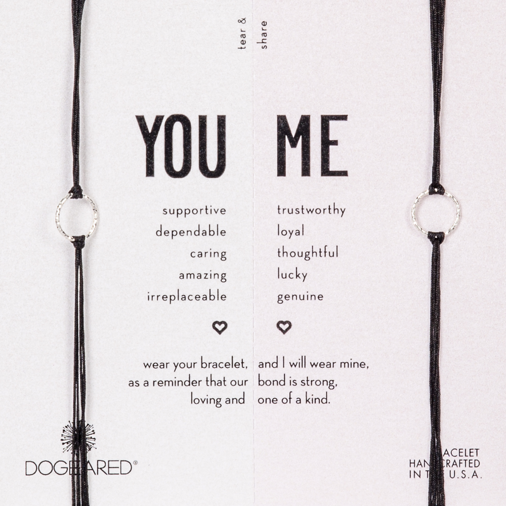 Dogeared You and Me Sterling Silver Friendship Bracelet Set