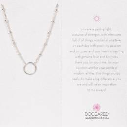 Dogeared Karma Ball Chain Sterling Silver Necklace