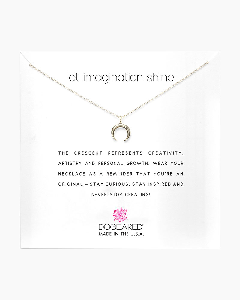 Dogeared Let Imagination Shine Crescent Sterling Silver Necklace