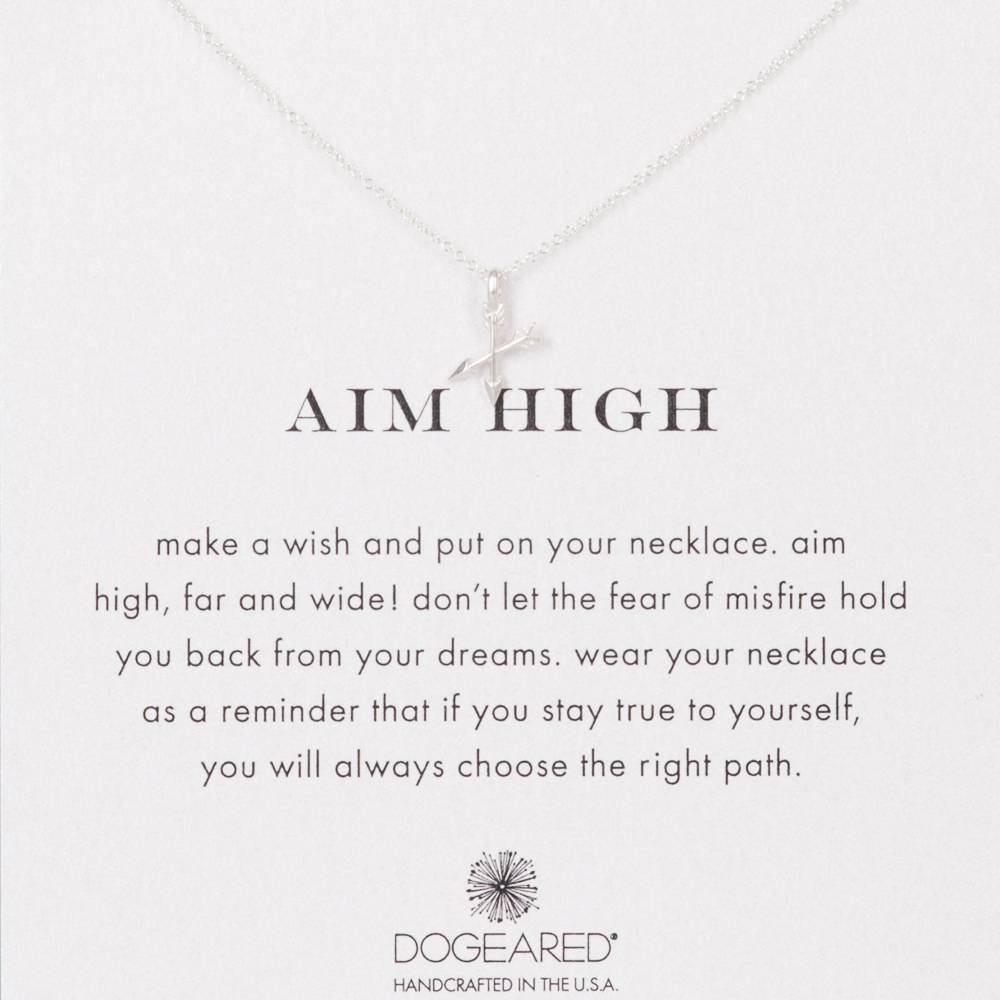 Dogeared Aim High Arrow Sterling Silver Necklace