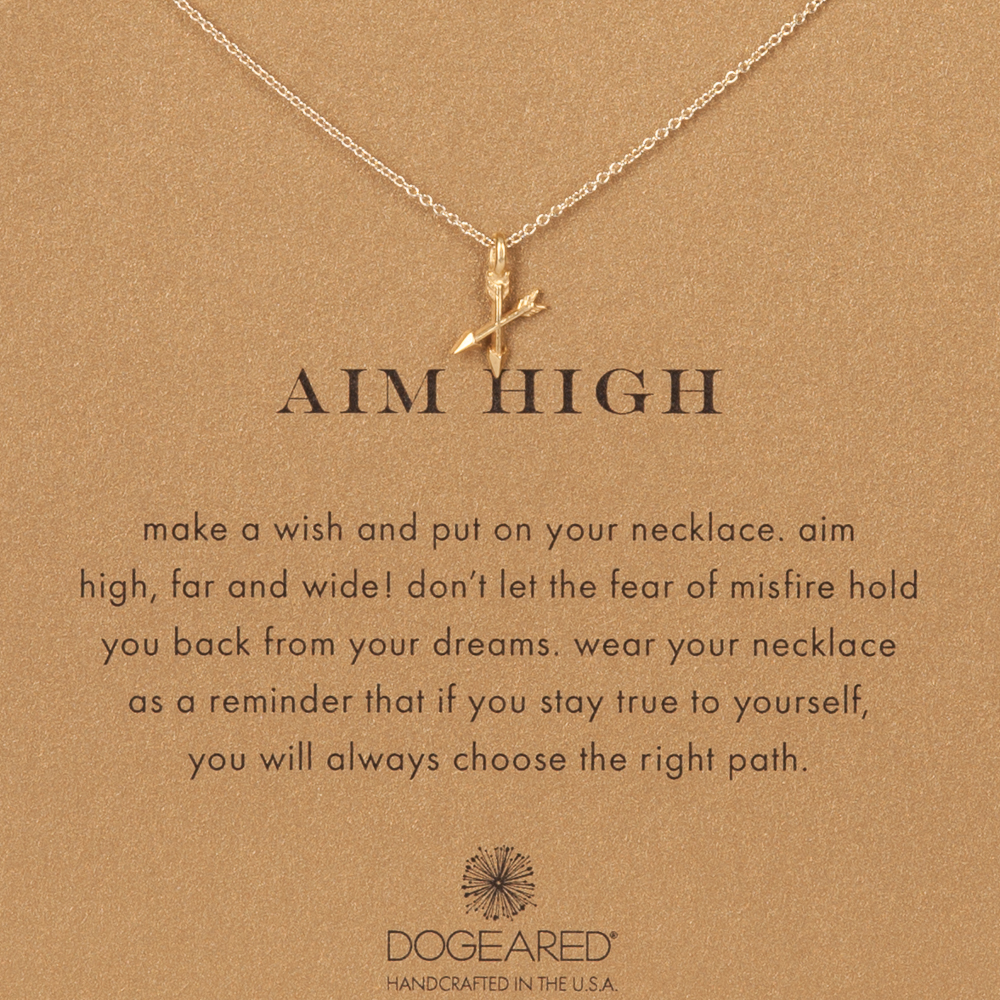 Dogeared Aim High Arrow Gold-Dipped Necklace