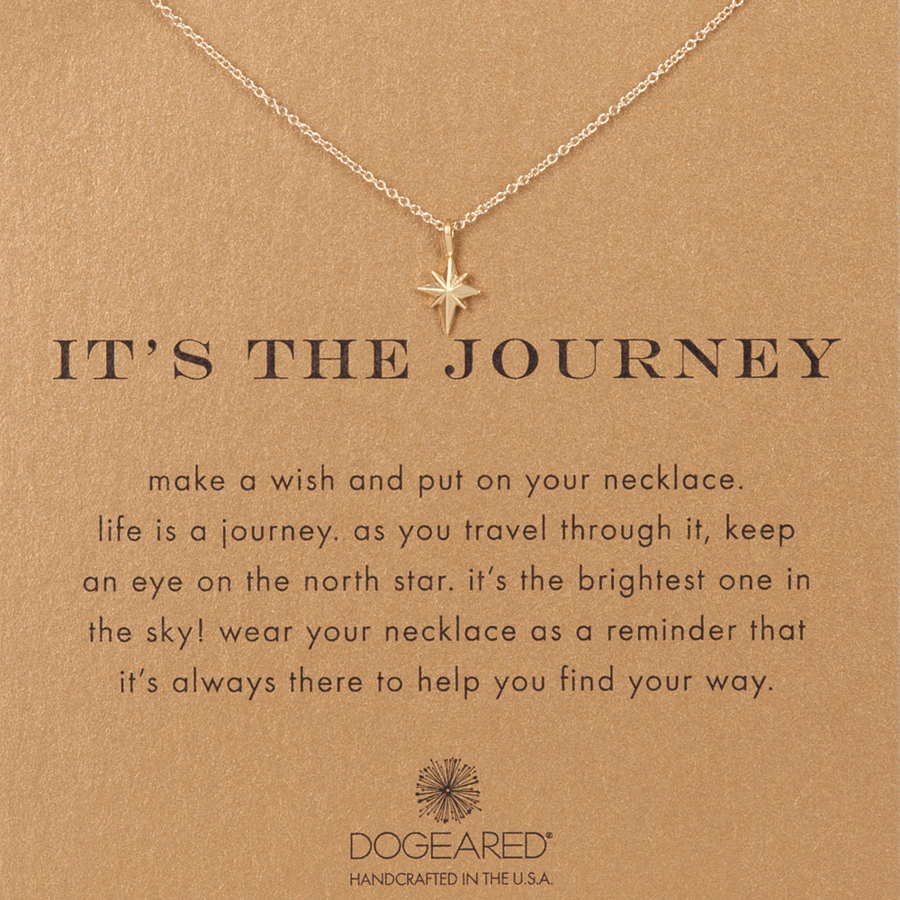 Dogeared The Journey Star Gold-Dipped Necklace