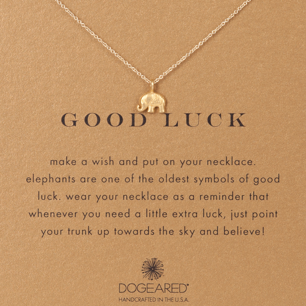 Dogeared Good Luck Elephant Gold-Dipped Necklace