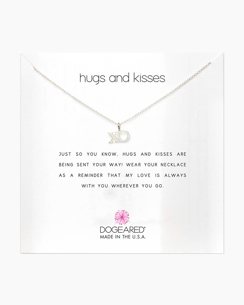 Dogeared Hugs and Kisses XO Sterling Silver Necklace