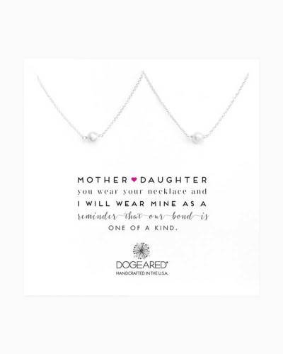 Mother and Daughter Small Pearl Necklaces in Sterling Silver