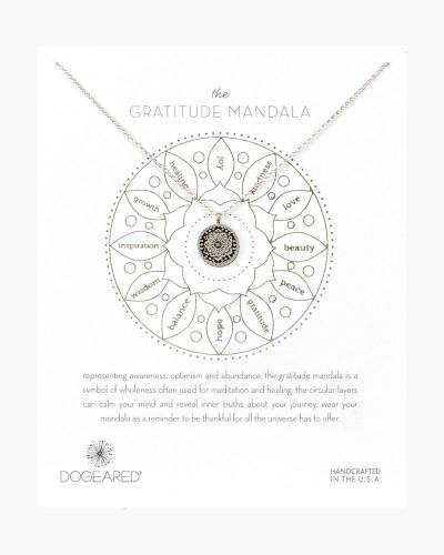 Gratitude Mandala Sterling Silver Necklace