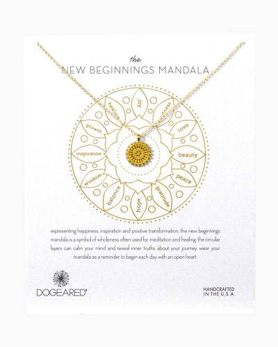 New Beginnings Mandala Gold-Dipped Necklace